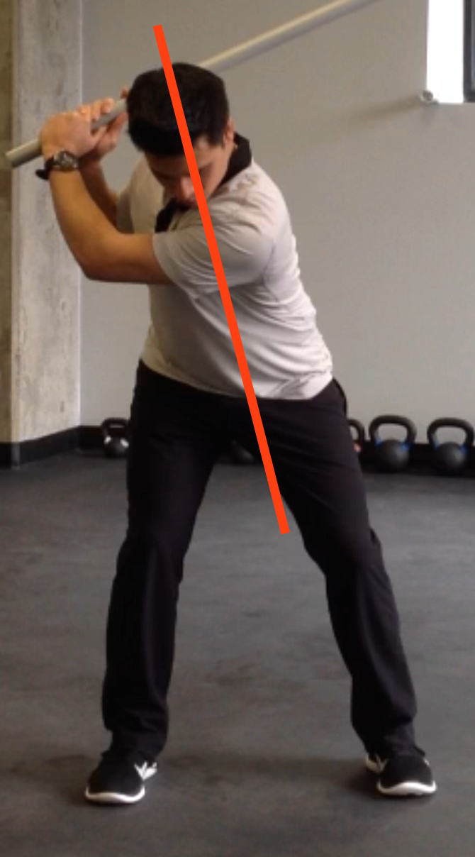 Proper spine angle. Loading through the hips to transfer power to the upper body.