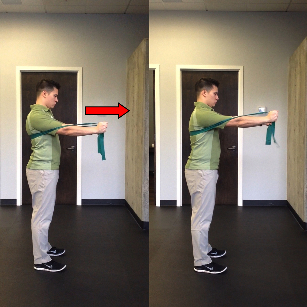 Serratus Punch Start and Finish Position