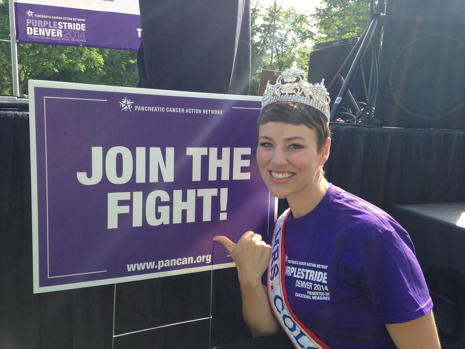 ae59ecfb94085 The Mrs. Colorado America Organization and current state finalists would  like to invite you to walk/run with us in the PurpleStride Denver on June  26.