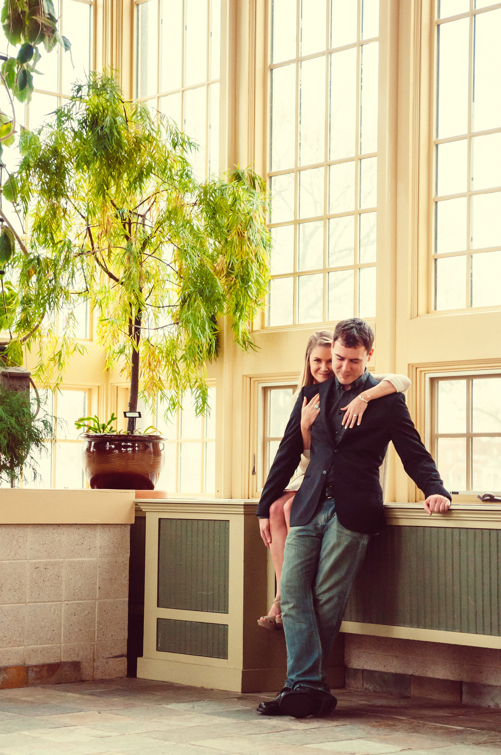 Baltimore Engagement Photography - Rawlings Conservatory