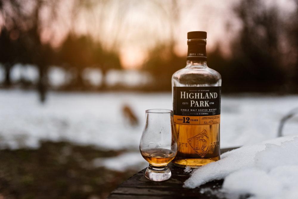 Highland Park Scotch Whiskey - Maryland Product Photography