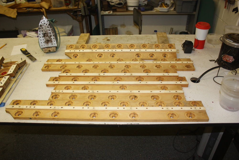 Pouch rails being stripped