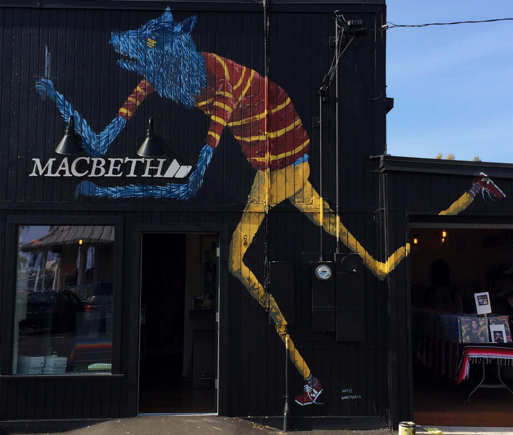 Mural at Macbeth Footwear, Encinitas, CA.