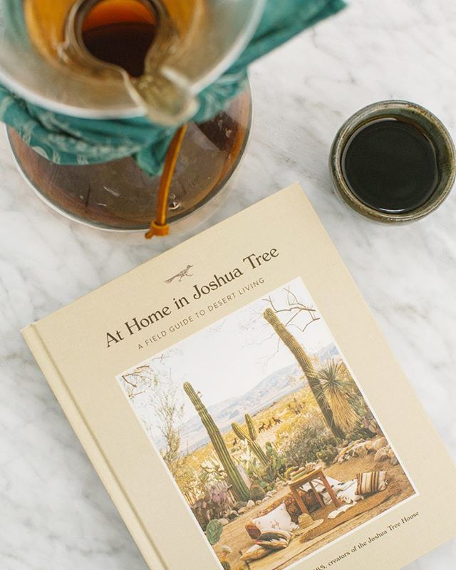 Sitting down for a mid-day cup, ready to dive into 'At Home in Joshua Tree' by our friends, Sara and Rich Combs. Proud to share our love for slow coffee in the book and to see two of the most genuine and hardworking people bring their dreams to life 💫🌵Pre Order the book @thejoshuatreehouse 📷: @readygopictures