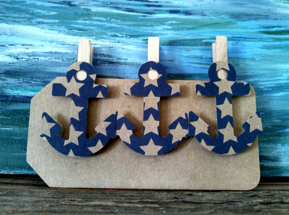 Anchor Clothes Pins 12 Baby Shower Nautical Wedding Party Favors Nursery  Decor Gift Tag Party Clips In Stars