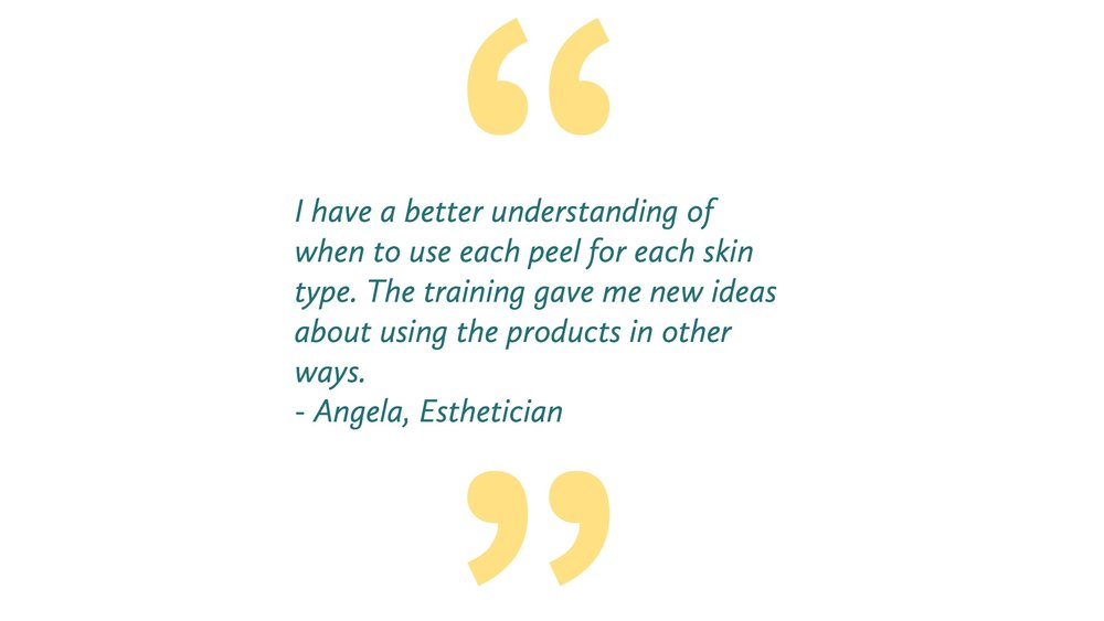 Chemical Peel training for estheticians