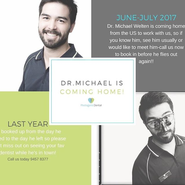 Have you heard? Dr Michael Welten is coming home soon! Call us today to find out when you can book in with him! ✨
