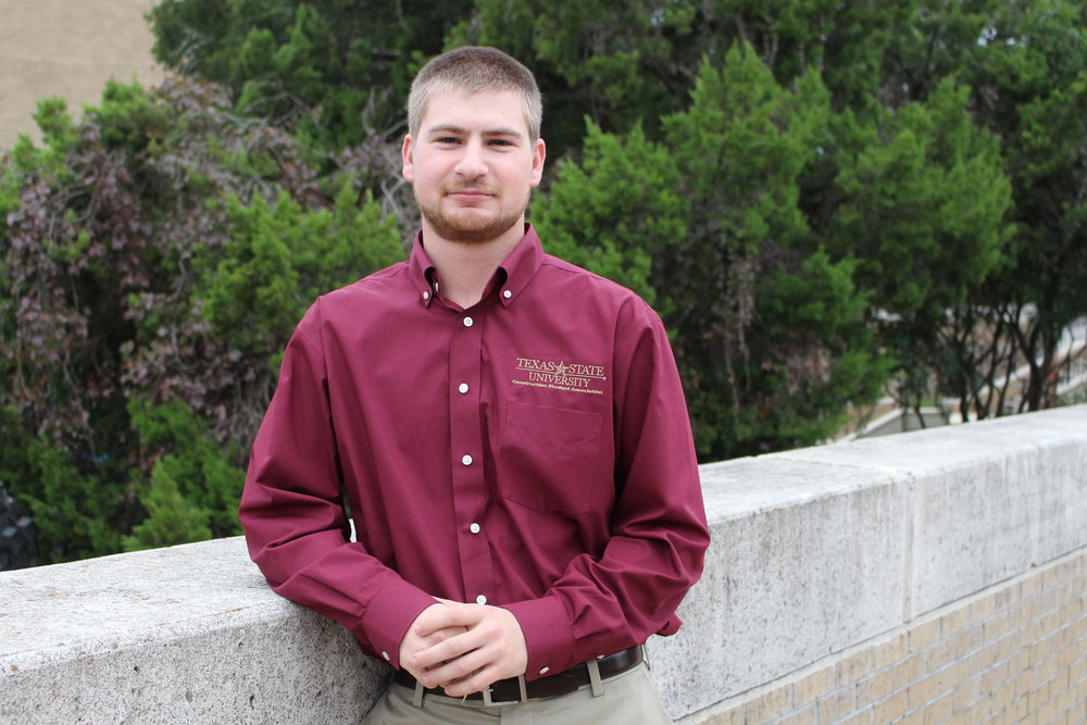 Secretary - Jacob Pruski - Hometown: Falls City, TexasGraduation: Spring 2020Field of Interest: Heavy Civil, Industrial or CommercialPast Experience: Works with his family's construction businessTasks: Keeps the CSA organized by taking meeting minutes, sending emails, organizing event summaries etc.Contact: jap274@txstate.edu