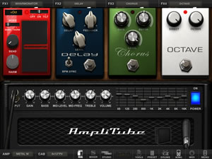 AmpliTube For iPad interface