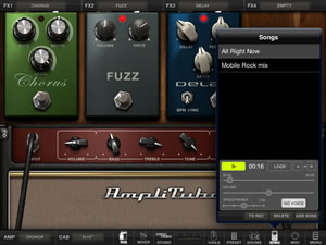 AmpliTube For iPad learning tool