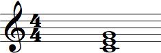 C Triad Chord