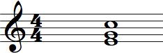 C Inversion Chord written C/E