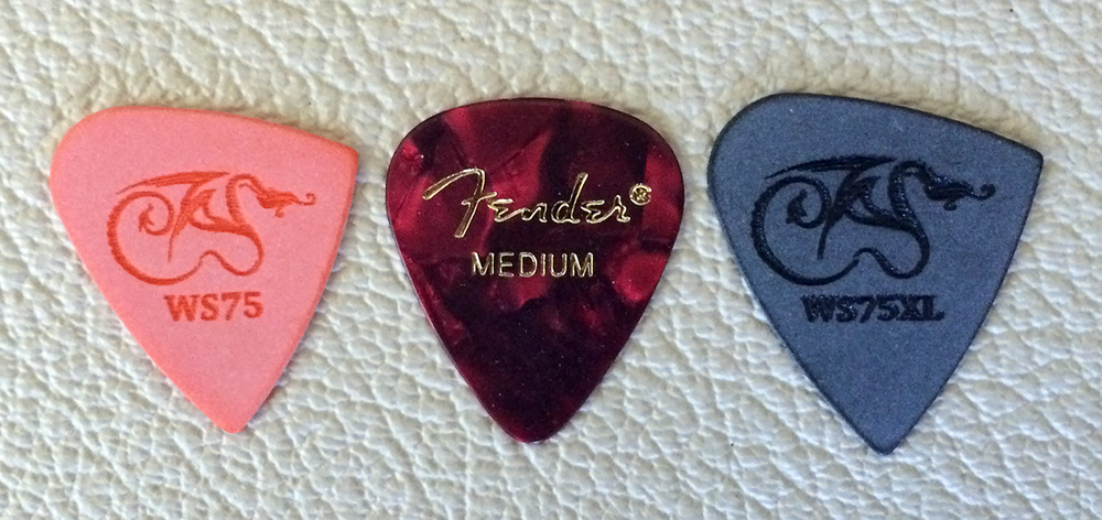 Wyvern Scale picks versus Fender Medium Picks