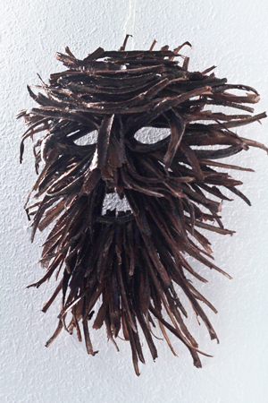 Mask made from Acacia root collected on O'ahu