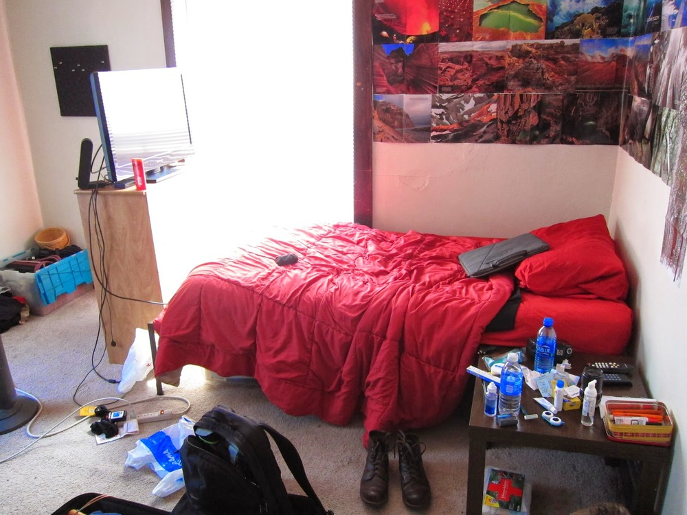 This is the room I stayed in.  All the junk lying around is mine, the room was actually neat when I got there.