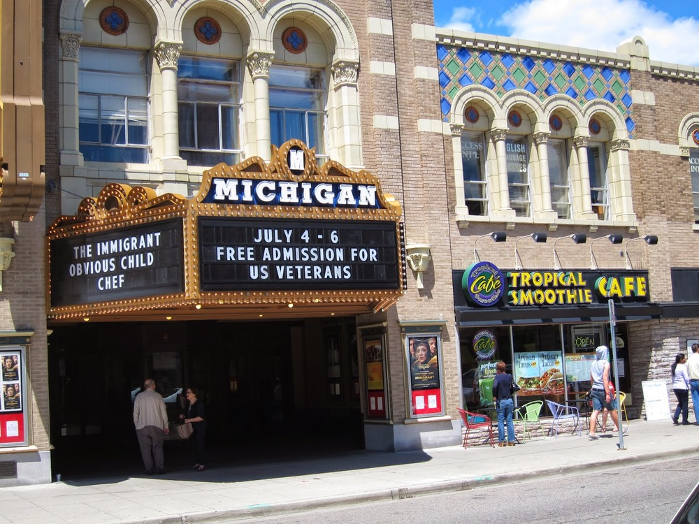 The Michigan Theater right outside of the UMich campus.