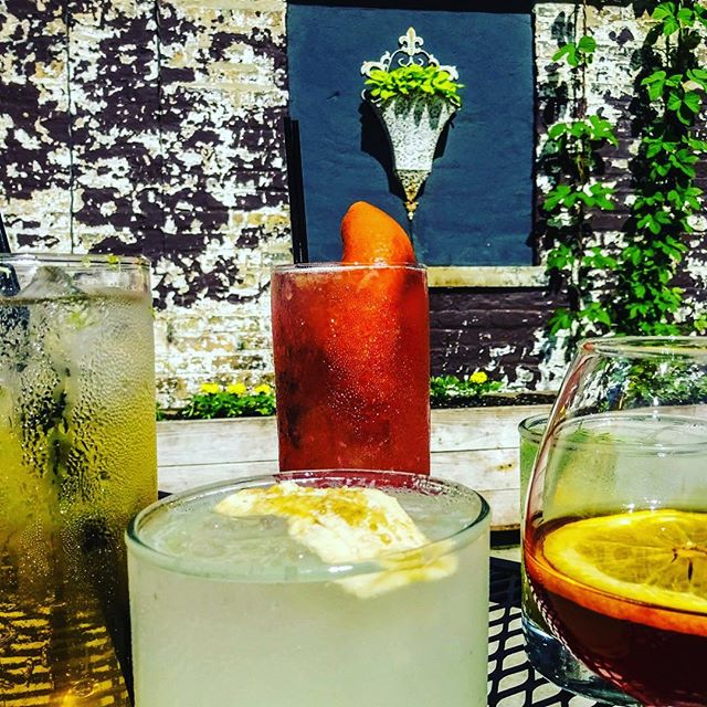 Perfect day to try the new summer cocktails on our patio!