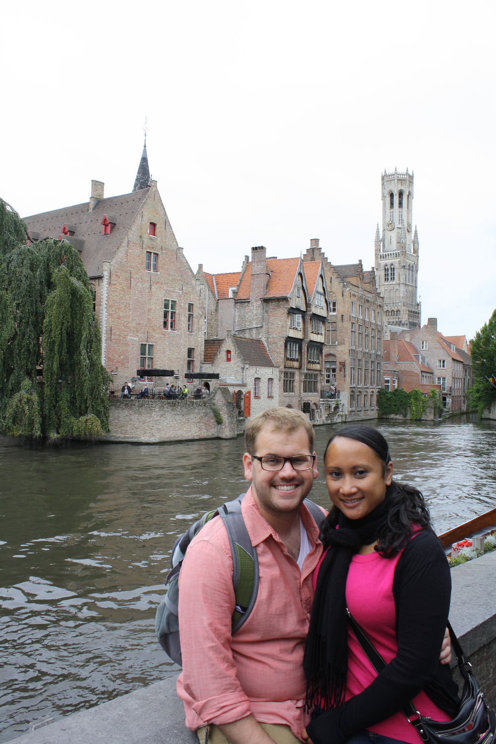 This is the stereotypical spot to take your photo in Bruges.
