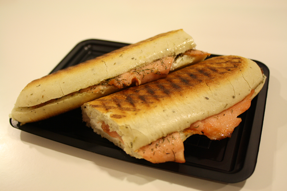 Had an  awesome  salmon, cream-cheese, and dill panini. I don't think it's necessarily Belgian-food, but it was great!