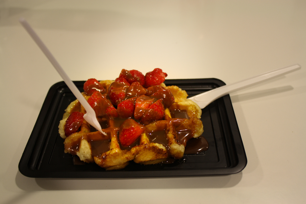 A Belgian waffle was on the trip bucket-list, naturally.