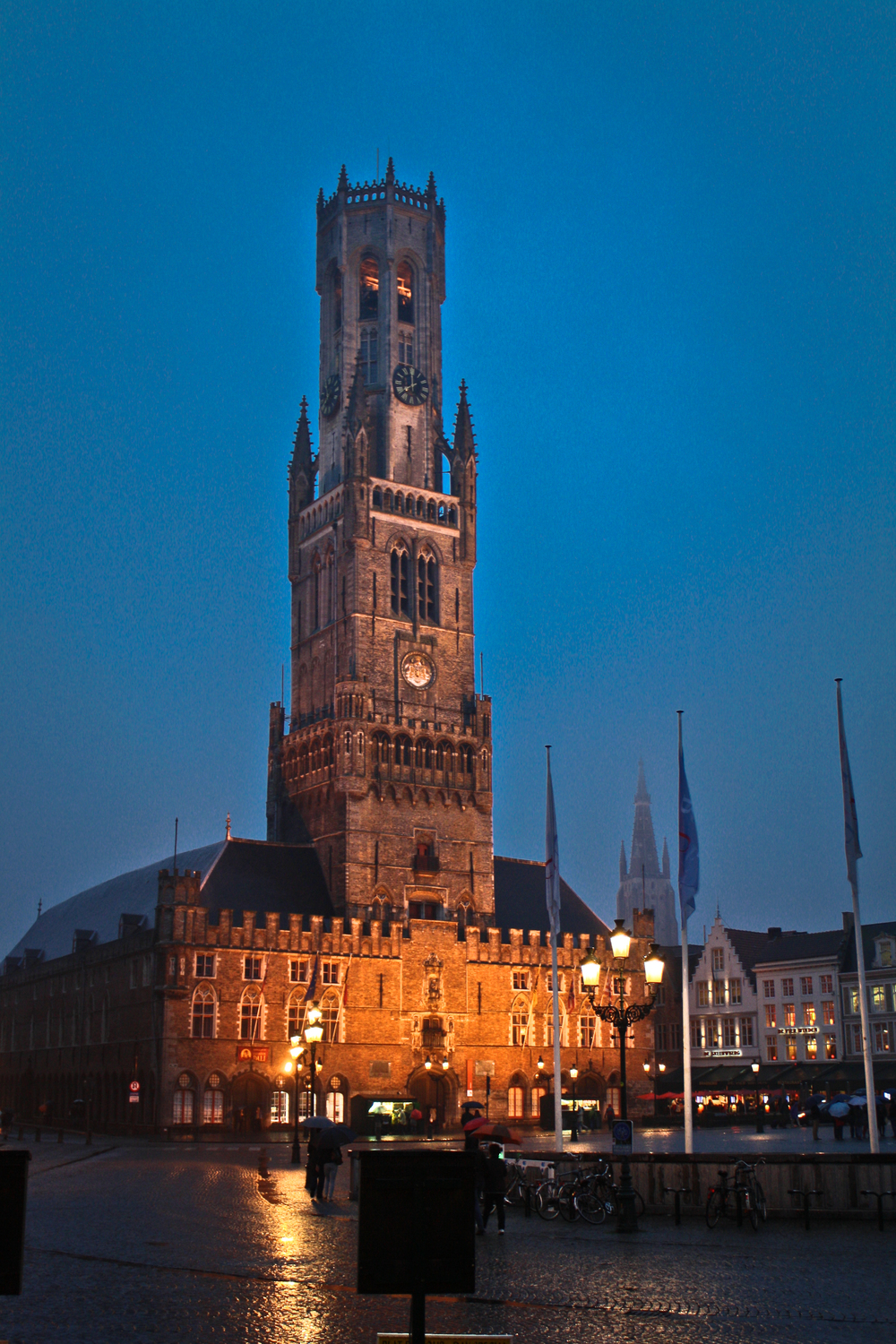 Night-time was beautiful in Bruges.