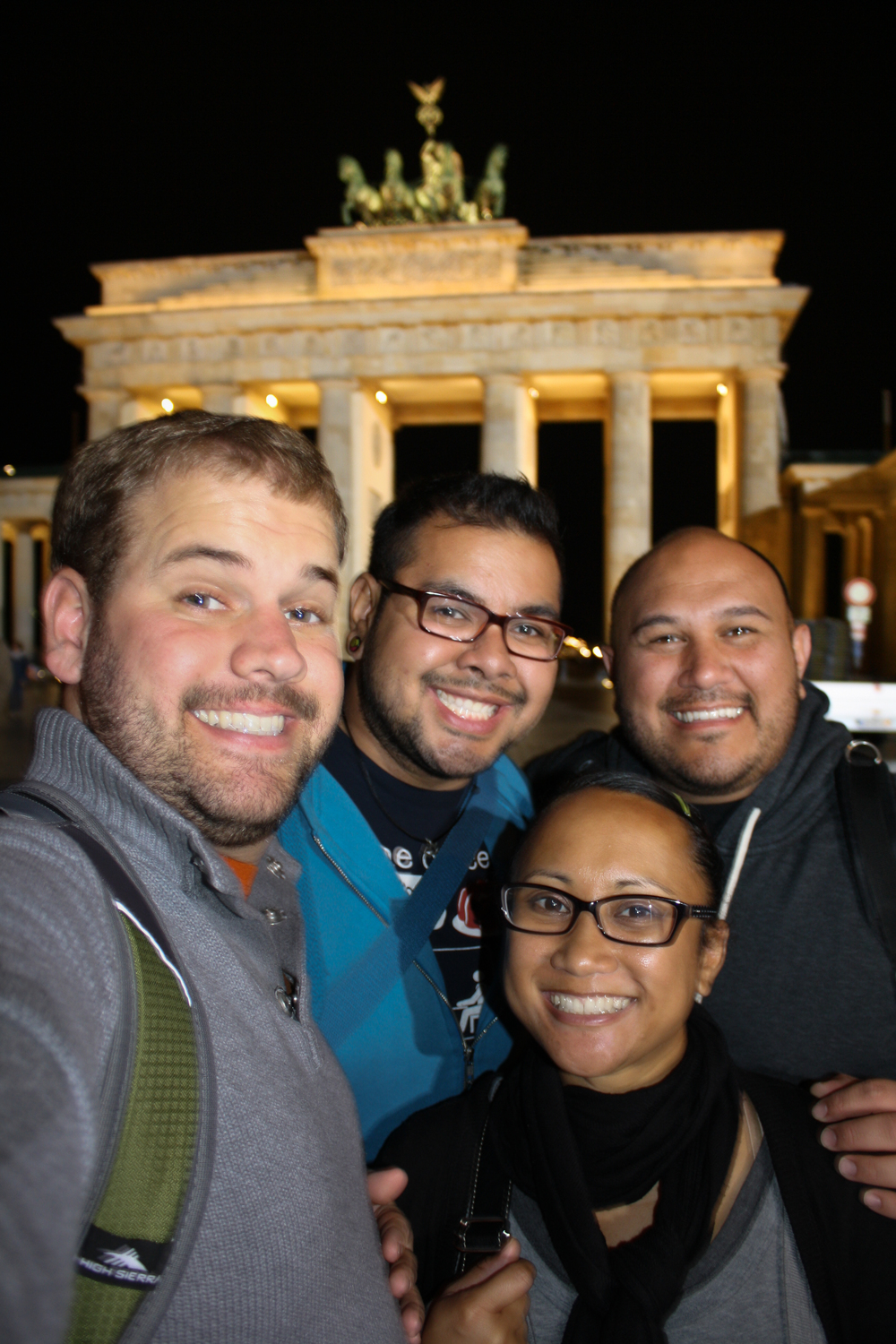 Weather began to clear up a bit on our last night so we took one final walk. Again, the Brandenburg gate was 7 minutes from the hotel, so why not?