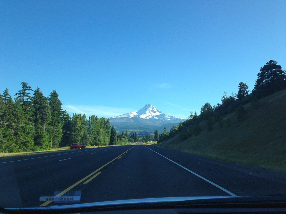 Mt. Hood in the distance as we drove down Highway 35 towards Central Oregon.