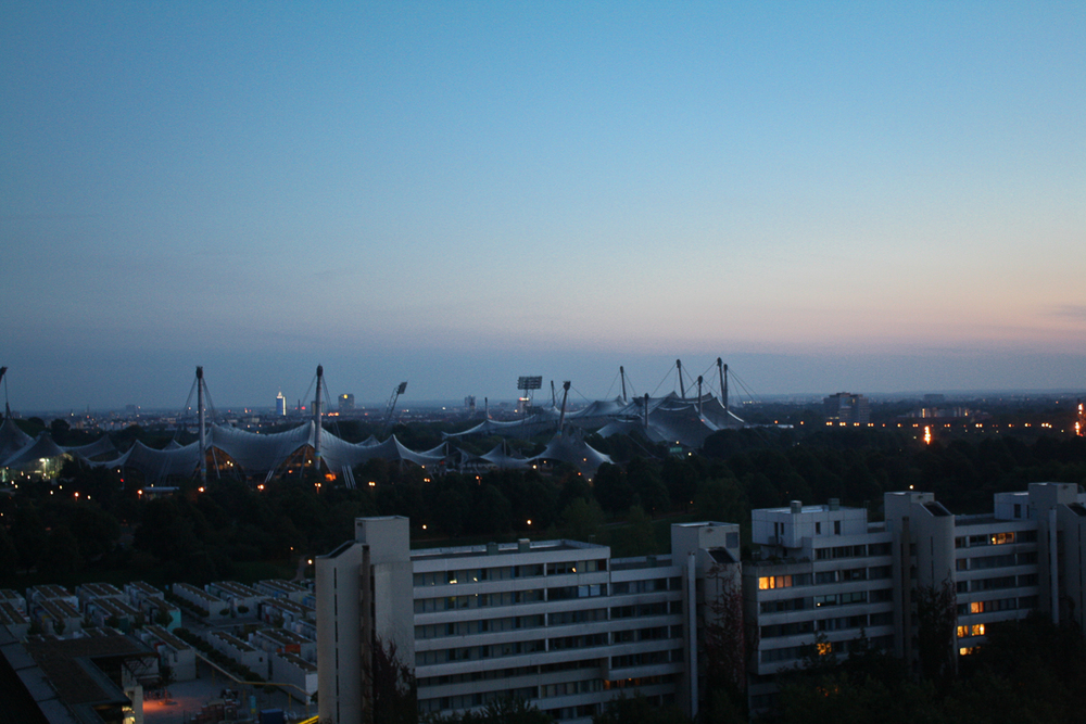 The view of the Olympic Stadium from our hotel window.