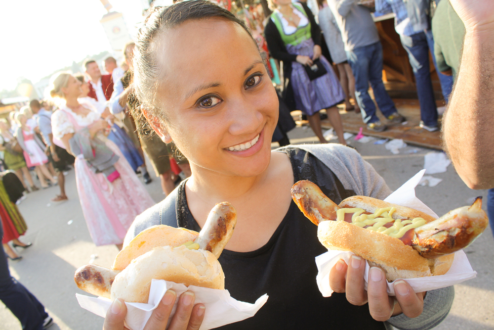 Just Cindy and some bratwurst. Nothing to see here.