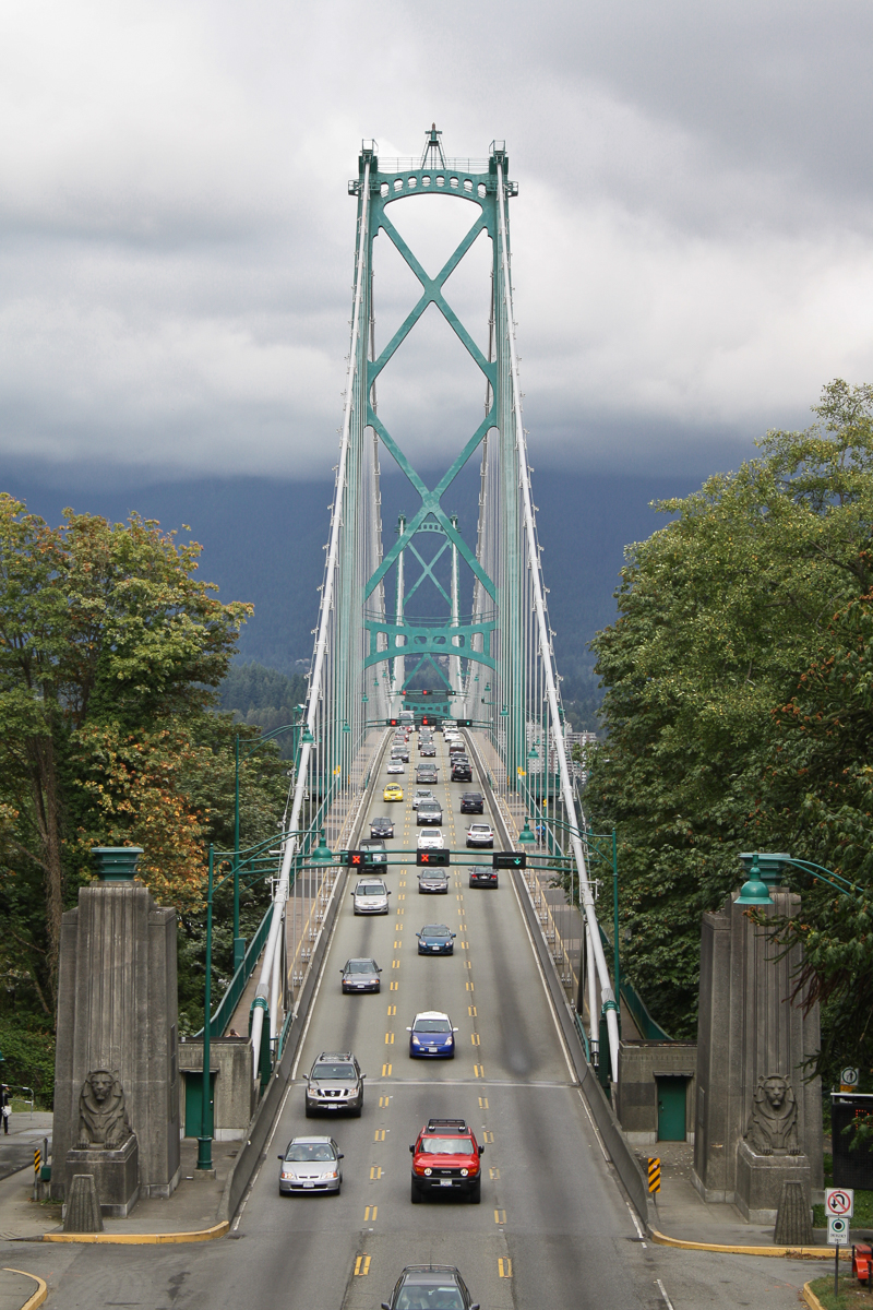 The beautiful Lions Gate Bridge.