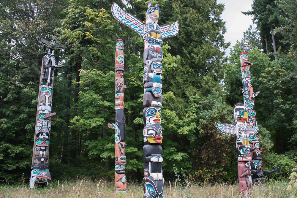 The best (and only free) totem pole exhibit on the trip!