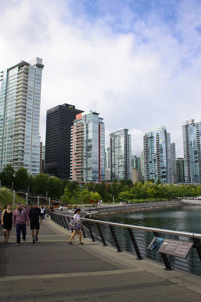 The skyline along the waterfront. These glass condominium high-rises dominated the downtown area.
