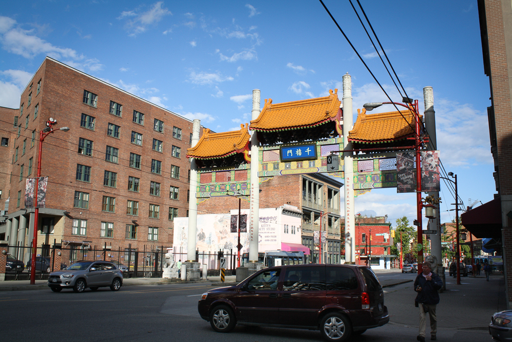 Entry to Chinatown. Not much going-on on the other side.