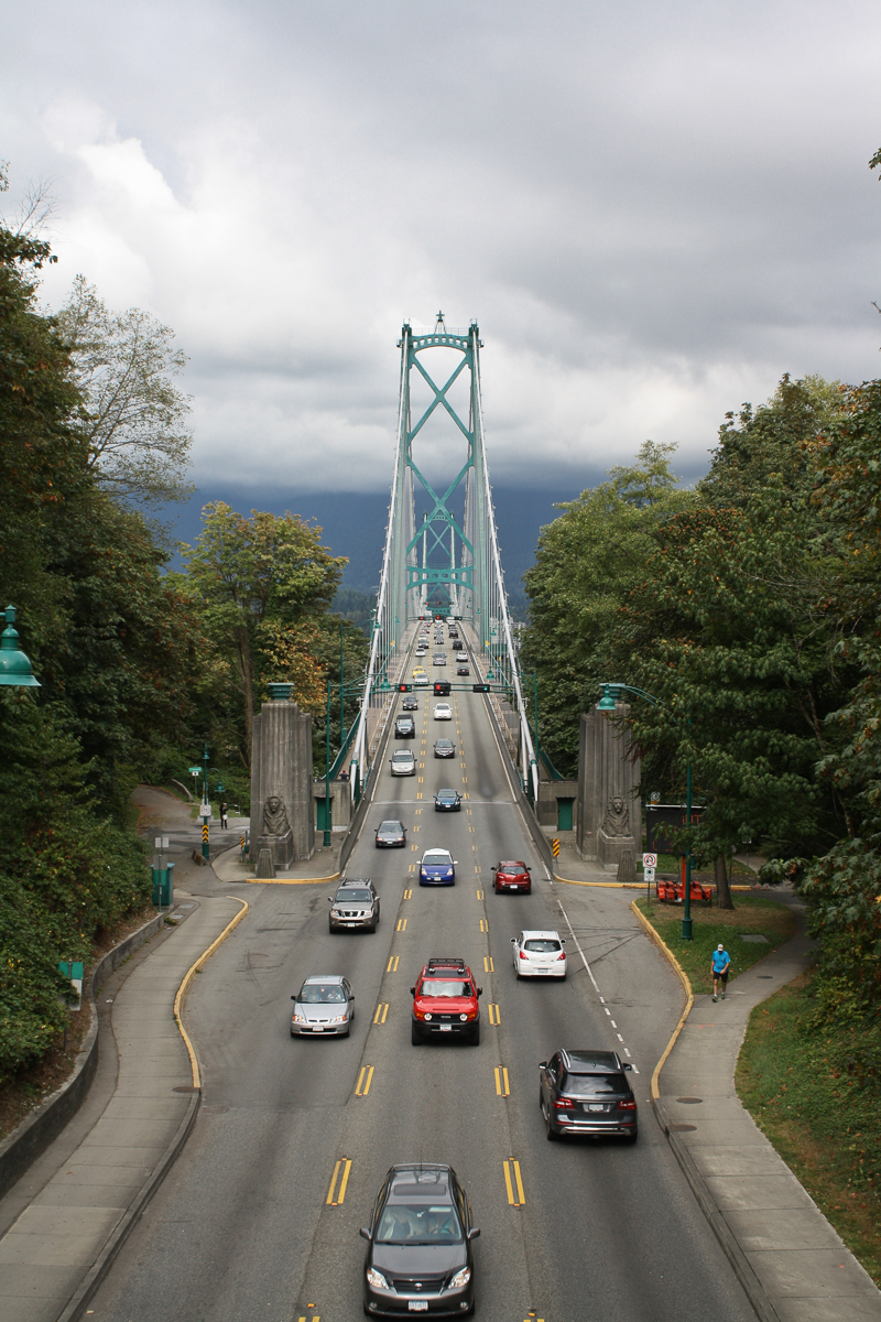 Another view of the Lions Gate Bridge.