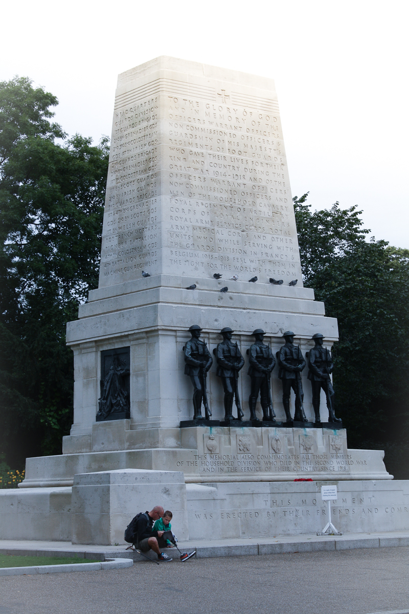I took this photo of the Guards Division Memorial and only later saw what else I captured.