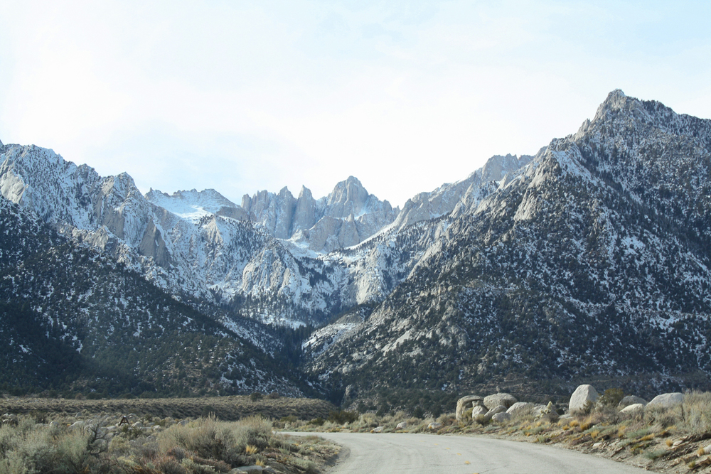Mount Whitney located at the center of this picture.