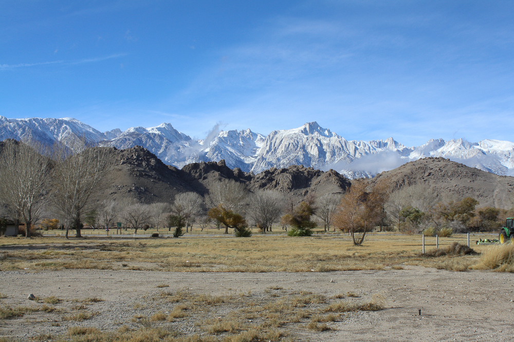 Arriving in Lone Pine, I was immediately awe-struck by the freshly snowed-on Sierras reaching up to a vivid blue sky.