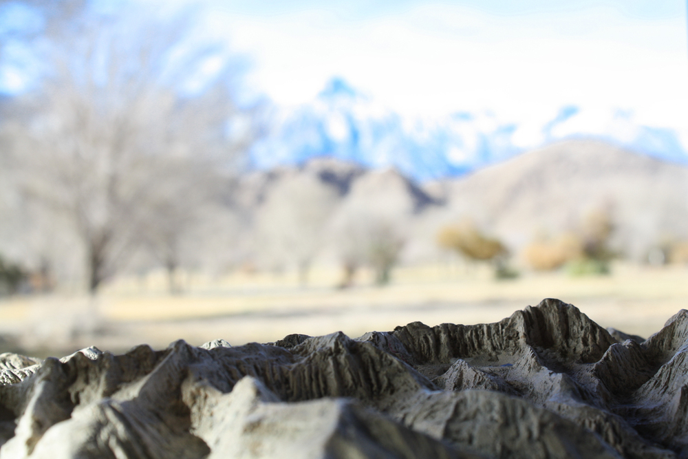 Inside the Visitors Center, a model of the Sierras faces the actual peaks, giving a different perspective to onlookers.