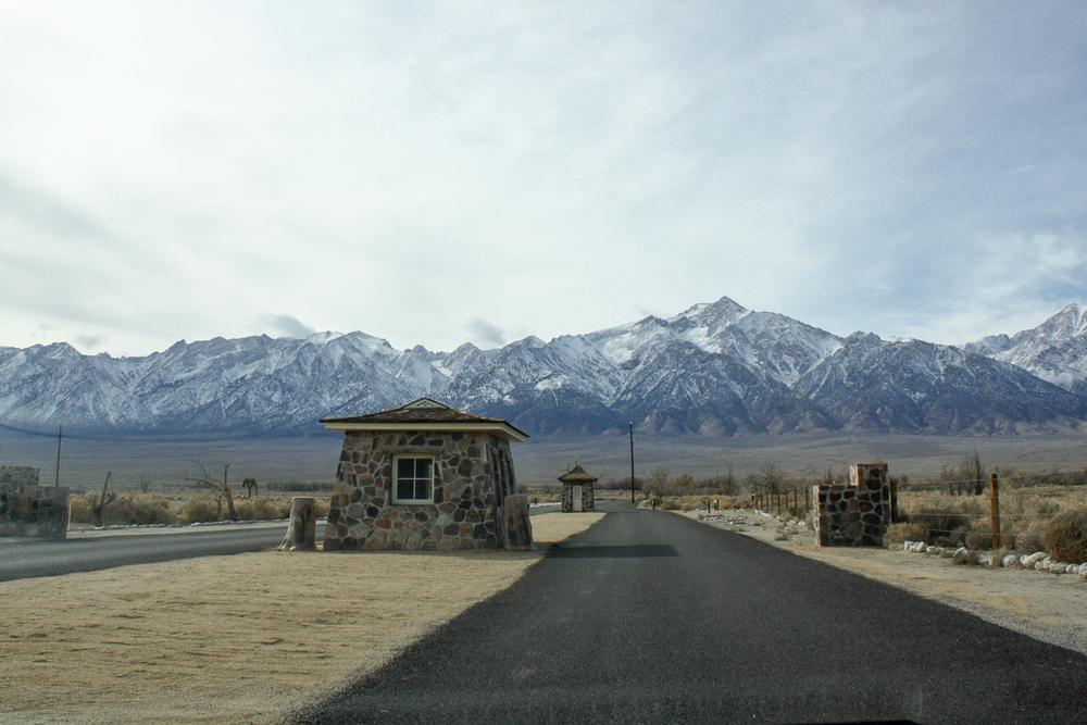 The original historic entrance to Manzanar.