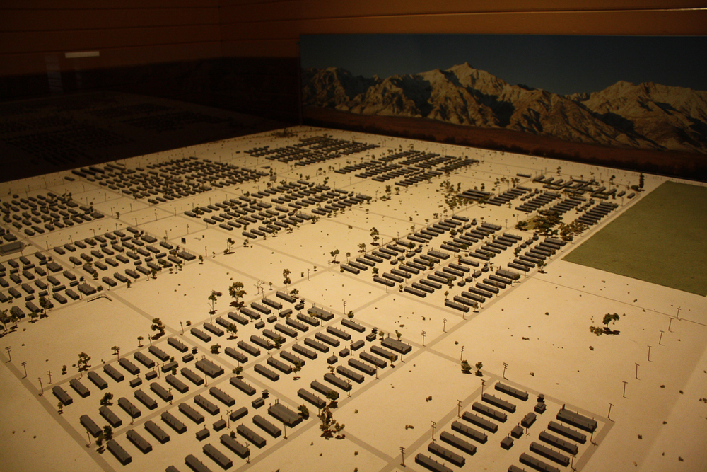 A fantastic model of the camp. Consider this scale when looking at photos of the barracks.