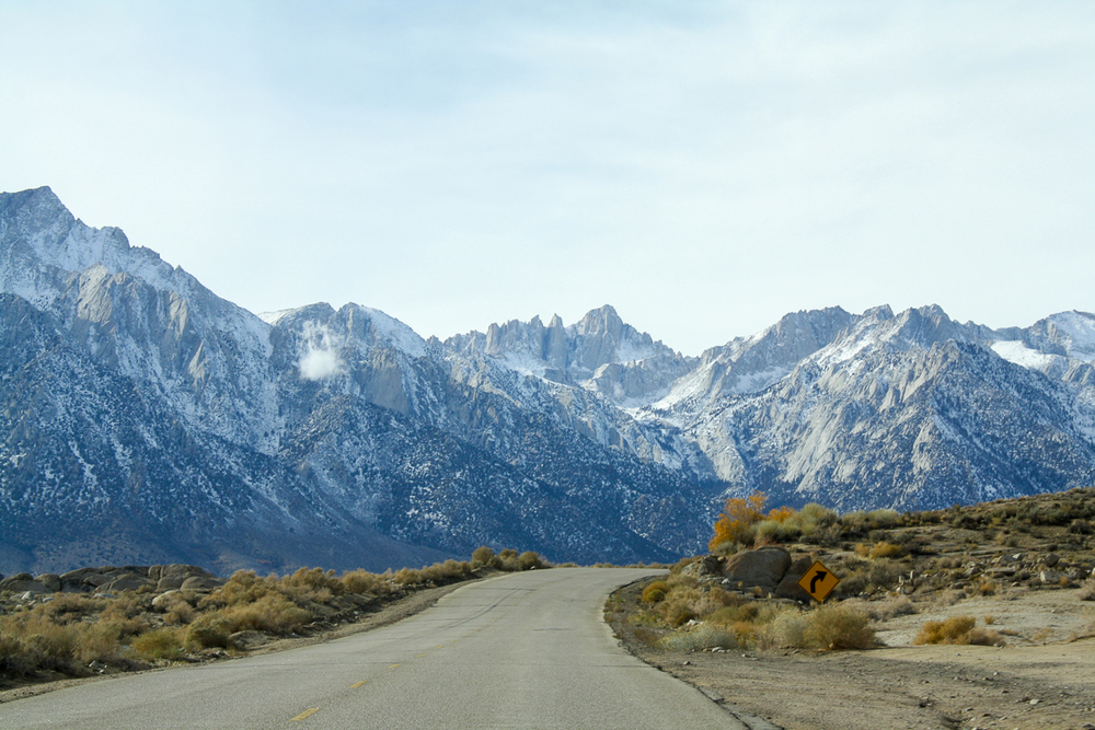 More of our drive up to a closer view of Mount Whitney.