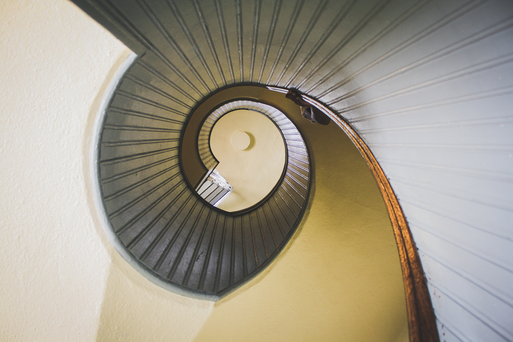 The lighthouse's most prominent interior feature is a beautiful spiral staircase up the center tower.
