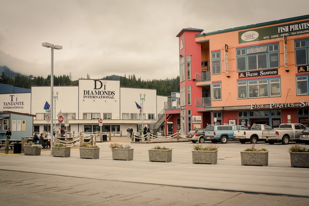 Apparently cruise go-ers like their jewelry. Diamond shops were set up  all over  Alaska!
