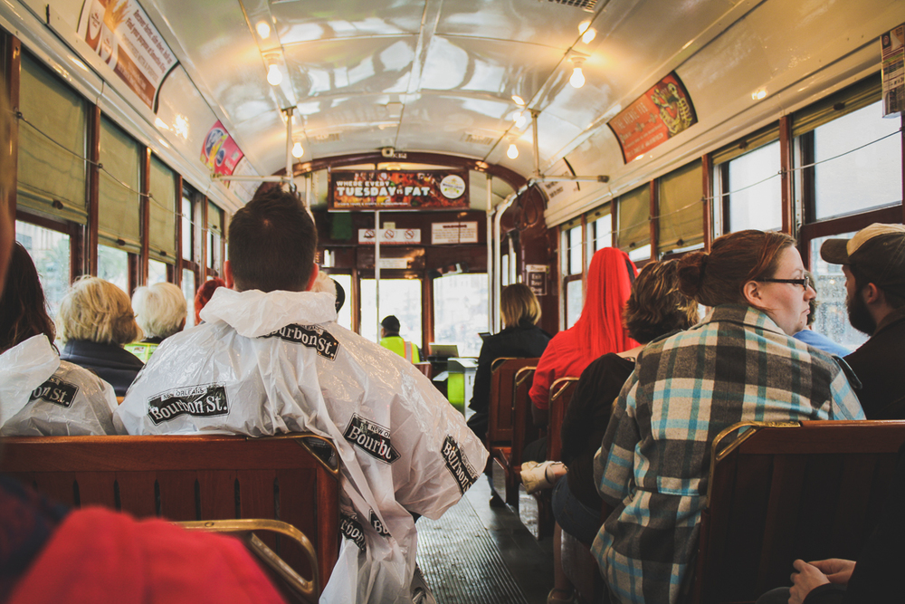Our street car when we first boarded. It would become a lot more crowded and sweaty before we would disembark!