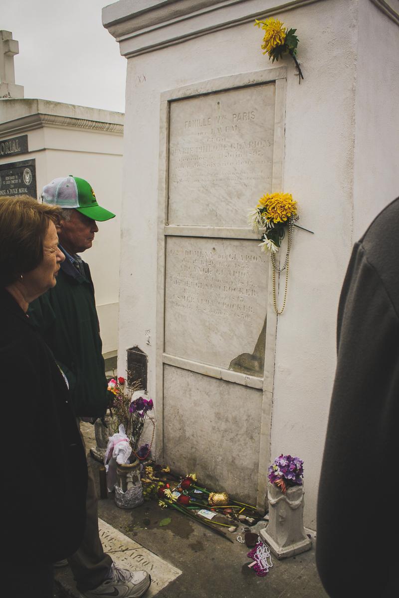 Marie Laveau's gravesite.    ...allegedly.