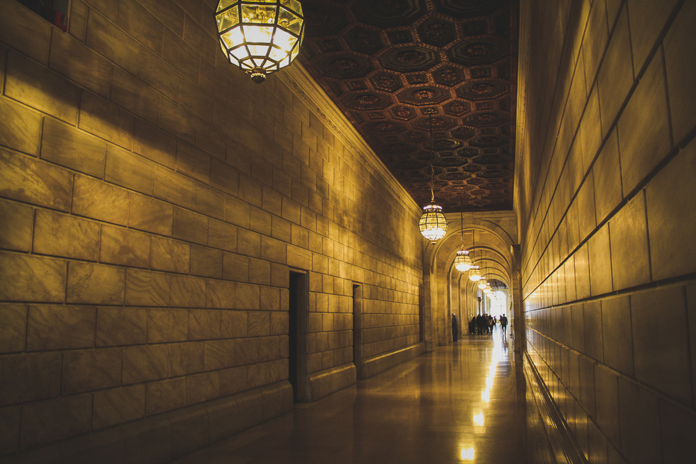 The halls of the New York Public Library.