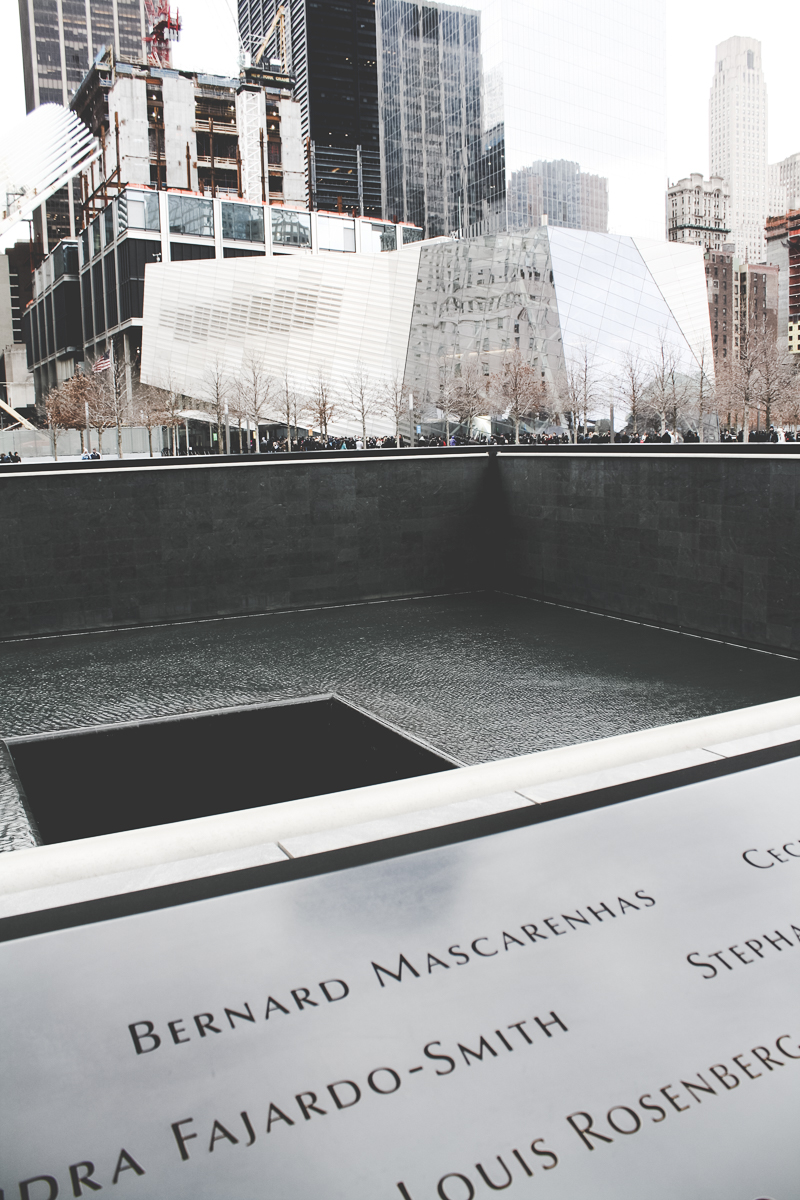The 9/11 Memorial was beautiful.