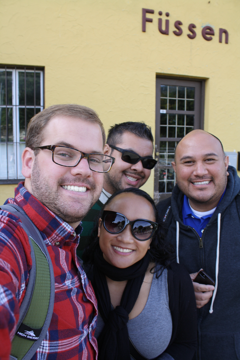 Group selfie in Füssen.