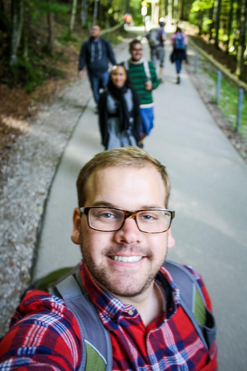Hiking selfie.