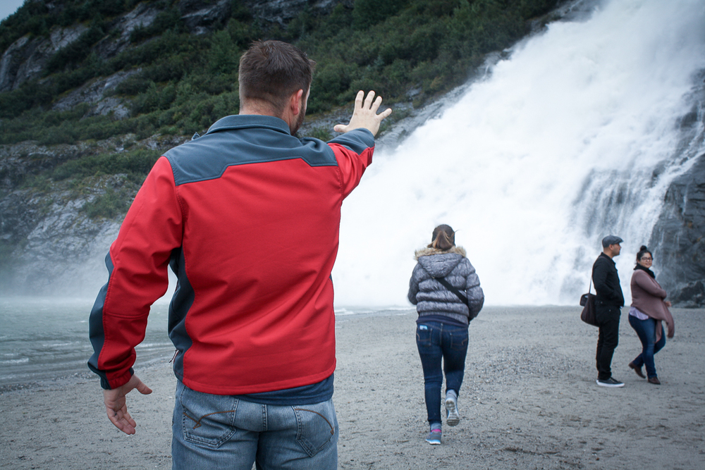 """I titled this one, """"Don't go chasing waterfalls."""""""